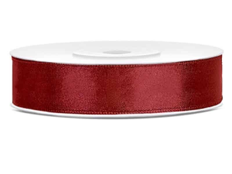 Saténová stuha jednolící 1,2 cm bordó