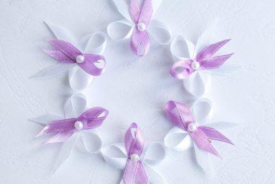 Levné svatební vývazky lila