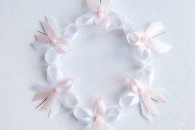 Levné svatební vývazky světle růžové