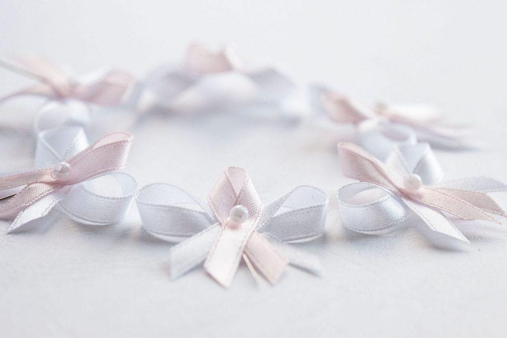Klasické svatební vývazky světle růžové
