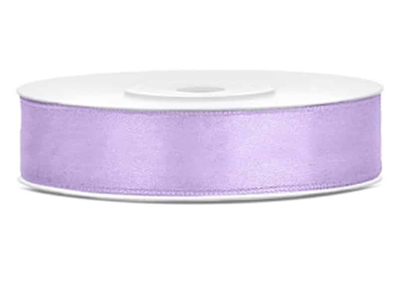 Saténová stuha jednolící 1,2 cm lila