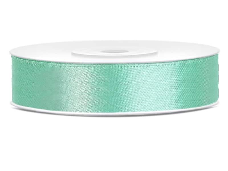 Saténová stuha jednolící 1,2 cm mint