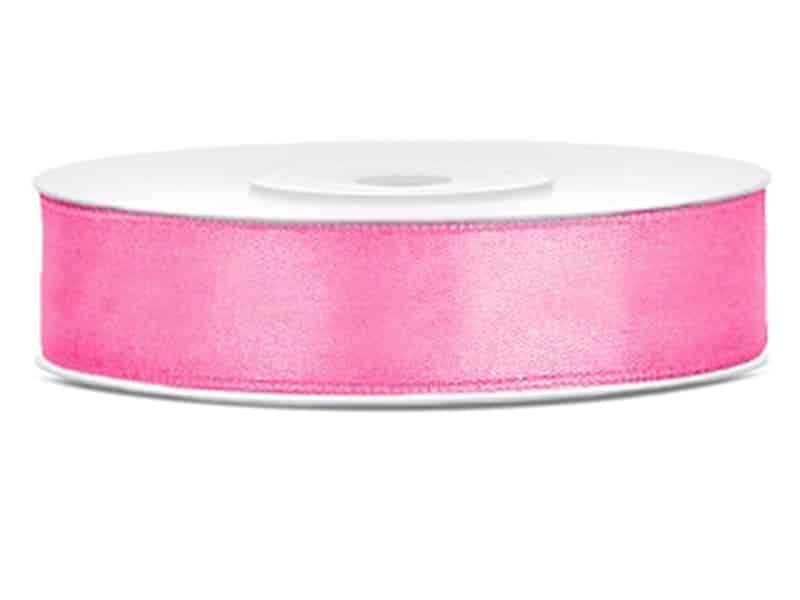 Saténová stuha jednolící 1,2 cm růžová