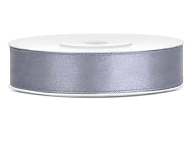 Saténová stuha jednolící 1,2 cm šedá