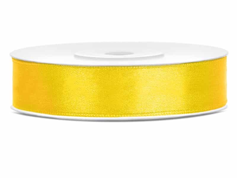 Saténová stuha jednolící 1,2 cm žlutá